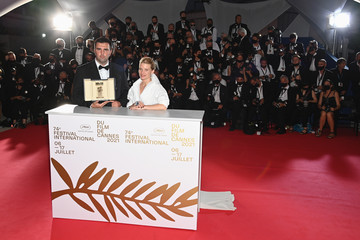 Melanie Thierry Frank Graziano Palme D'Or Winner Photocall - The 74th Annual Cannes Film Festival