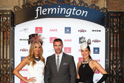 Laura Dundovic, Kris Smith and Rebecca Bramich during the Melbourne Cup Carnival Spring Fashion Moment at The Mint Cafe on September 23, 2013 in Sydney, Australia.