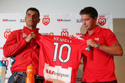 Heart coach John Aloisi (L) and Harry Kewell of the Heart pose during a Melbourne Heart A-League press conference at AAMI Park on July 3, 2013 in Melbourne, Australia.