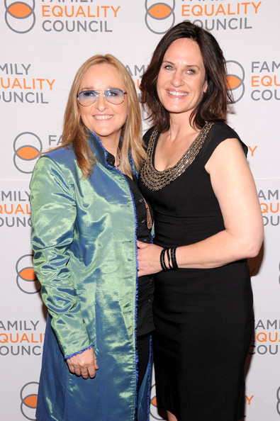 Melissa Etheridge with current wife Linda Wallem