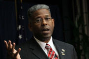 U.S. Rep. Allen West (R-FL) speaks during a Tea Party Town Hall meeting February 8, 2011 at the National Press Club in Washington, DC. The town hall meeting was held by the Tea Party Express and Tea Party HD to address issues Tea Party members were concerned over.