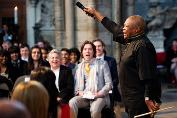 Hugh Masekela Members Of The Royal Family Attend The Commonwealth Day Of Observance At Westminster Abbey