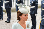 Catherine, Duchess of Cambridge attends as members of the Royal Family attend events to mark the centenary of the RAF on July 10, 2018 in London, England.