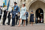(L-R) Prince William, Duke of Cambridge, Catherine, Duchess of Cambridge and Meghan, Duchess of Sussex attend as members of the Royal Family attend events to mark the centenary of the RAF on July 10, 2018 in London, England.