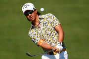Ryo Ishikawa of Japan plays a shot on the first hole during the final round of the Memorial Tournament presented by Nationwide Insurance at Muirfield Village Golf Club on June 1, 2014 in Dublin, Ohio.