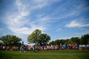 Bubba Watson walks the fairway after hitting his tee shot on the first hole during the final round of the Memorial Tournament presented by Nationwide Insurance at Muirfield Village Golf Club on June 1, 2014 in Dublin, Ohio.
