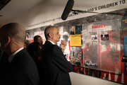 Eric Holder, Jr., the 82nd Attorney General of the United States, visits the MLK50: A legacy Rembered exhibit at the National Civil Rights Museum as they prepare for the 50th anniversary of the  assassination of the Rev. Martin Luther King, Jr.von April 2, 2018 in Memphis, Tennessee. Over the next few days, the city will commemorate his legacy before his death on the balcony at the Lorraine Motel on April 4, 1968.
