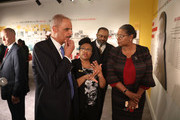 Dr. Noelle Trent gives Eric Holder, Jr., the 82nd Attorney General of the United States, a tour of the MLK50: A legacy Rembered exhibit at the National Civil Rights Museum as they prepare for the 50th anniversary of the  assassination of the Rev. Martin Luther King, Jr. on April 2, 2018 in Memphis, Tennessee. Over the next few days, the city will commemorate his legacy before his death on the balcony at the Lorraine Motel on April 4, 1968.
