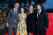 """Actors Ansel Elgort, Kaitlyn Dever, producer Helen Estabrook and director Jason Reitman attend the Virgin Atlantic Gala VIP arrivals for """"Men, Women & Children"""" during the 58th BFI London Film Festival at Odeon Leicester Square on October 9, 2014 in London, England."""