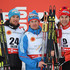 Dario Cologna Alex Harvey Photos - Gold medallist Maxim Vylegzhanin (C) of Russia poses with silver medallist Dario Cologna (L) of Switzerland and bronze medallist Alex Harvey of Canada after the Men's 30km Cross-Country Skiathlon during the FIS Nordic World Ski Championships at the Lugnet venue on February 21, 2015 in Falun, Sweden. - Men's and Women's Cross-Country Skiathlon - FIS Nordic World Ski Championships
