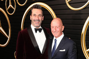 (L-R) Jon Hamm and Nicholas Speeks attend the Mercedes-Benz Academy Awards Viewing Party at The Four Seasons Hotel Los Angeles at Beverly Hills on February 09, 2020 in Los Angeles, California.