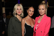 (L-R) Stefanie Giesinger, Candice Swanepoel and Franziska Knuppe attend the Mercedes-Benz presents Fashion Talents from South Africa show during Berlin Fashion Week Autumn/Winter 2020 at Kraftwerk Mitte on January 13, 2020 in Berlin, Germany.
