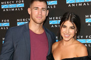 Actors Andrew Gardner (L) and Daniella Monet (R) attend the Mercy For Animals Presents Hidden Heroes Gala 2018 at Vibiana on September 15, 2018 in Los Angeles, California.