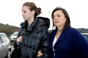 Edda Mellas, mother of Amanda Knox (R) and her daughter Deanna Knox arrive at the Perugia prison of Capanne for a visit to see Amanda on December 5, 2009 in Perugia, Italy. Amanda Knox and her former Italian boyfriend Raffaele Sollecito have been found guilty of the murder of British student Meredith Kercher in Perugia on November 1, 2007.