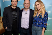 Jason Biggs, Jon Werther and Jenny Mollen attend the Meredith NewFront 2018 on May 3, 2018 in New York City.