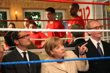 Boris Rhein Merkel Visits Youth Integration Projects