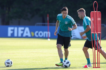 Mesut Oezil Germany Training And Press Conference