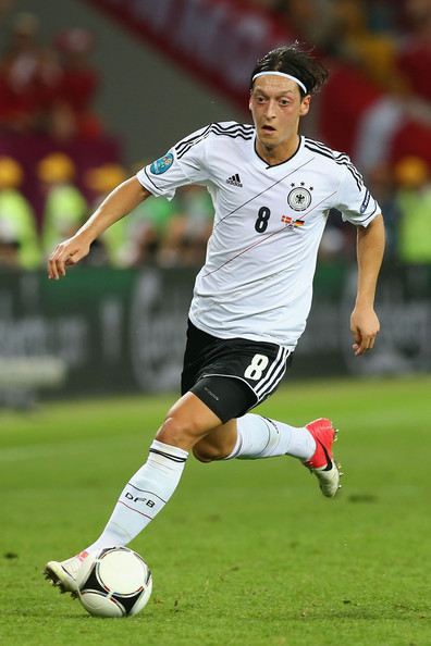 Mesut Ozil Mesut Ozil of Germany in action during the UEFA EURO 2012 group B match between Denmark and Germany at Arena Lviv on June 17, 2012 in L'viv, Ukraine.