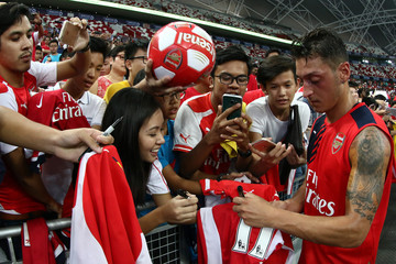 Mesut Ozil Barclays Asia Trophy Training Session & Press Conference
