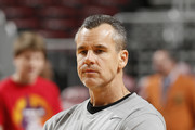 Head coach Billy Donovan of the Florida Gators watches the players during the morning warm up prior to their game against the Wake Forest Demon Deacons during the MetroPCS Orange Bowl Basketball Classic on December 20, 2014 at the BB&T Center in Sunrise, Florida.