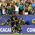 Andres Guardado Photos - Andres Guardado #18 of Mexico celebrates with teammates after scoring in the first half against Jamaica during the CONCACAF Gold Cup Final at Lincoln Financial Field on July 26, 2015 in Philadelphia, Pennsylvania. - Mexico v Jamaica: Final - 2015 CONCACAF Gold Cup