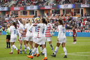 Carli Lloyd #10 of United States kisses the ball after scoring a goal in the first half against Mexico at BBVA Compass Stadium on April 8, 2018 in Houston, Texas.