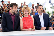 "(L-R) Director Nanni Moretti, actress Margherita Buy and actor John Turturro attends a photocall for ""Mia Madre"" (""My Mother"") during the 68th annual Cannes Film Festival on May 16, 2015 in Cannes, France."