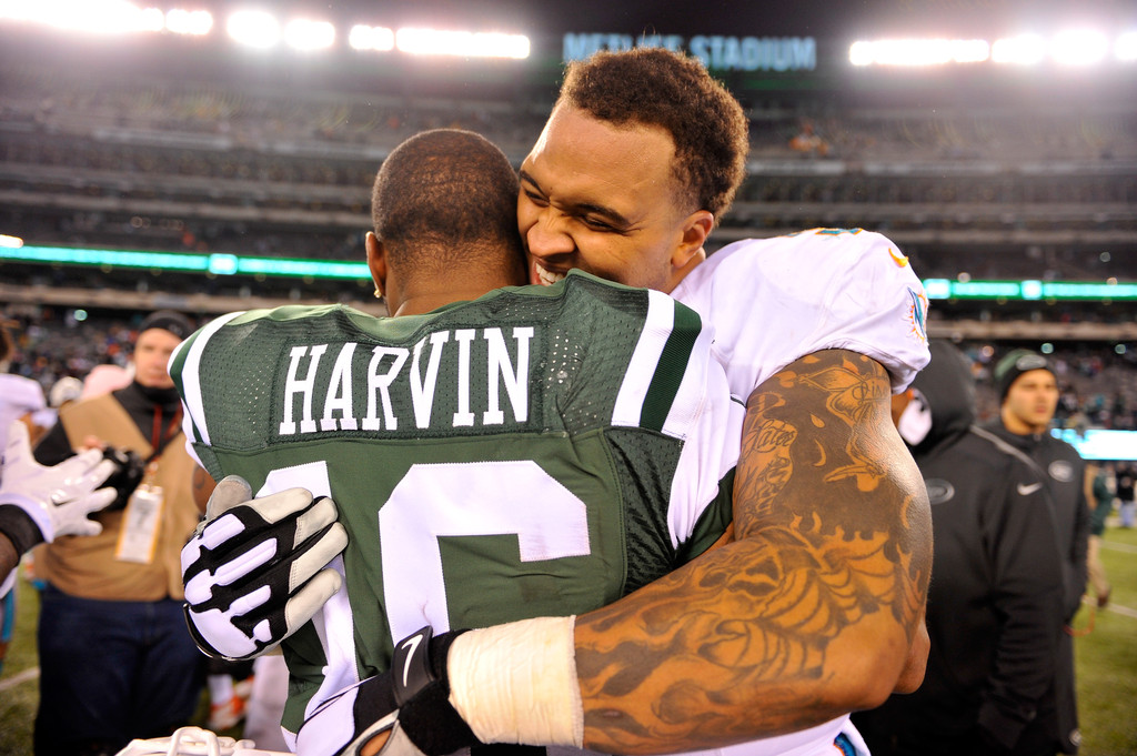 Percy Harvin and Mike Pouncey Photos Photos Miami Dolphins v New