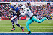 LeSean McCoy #25 of the Buffalo Bills scores a touchdown during the second quarter against Miami Dolphins on December 17, 2017 at New Era Field in Orchard Park, New York.