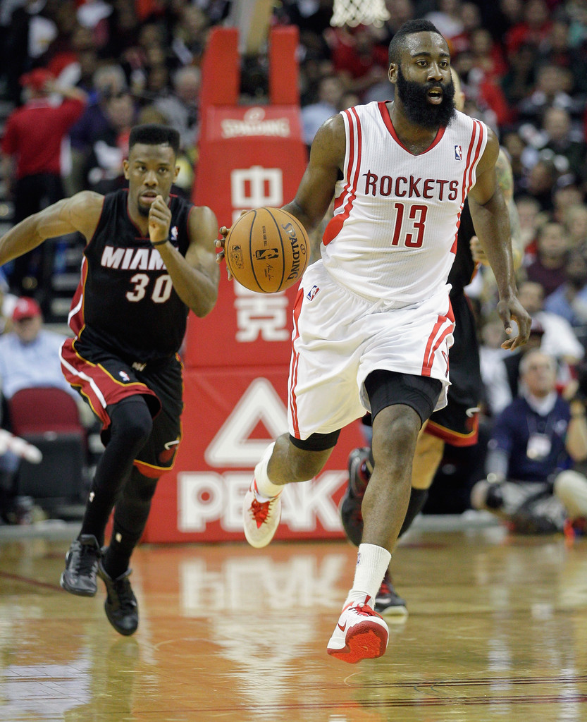 James Harden Rockets: Miami Heat V Houston Rockets
