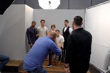 Michael B. Jordan Miles Teller Behind The Scenes of the Getty Images Portrait Studio Powered By Samsung Galaxy At Comic-Con International 2015