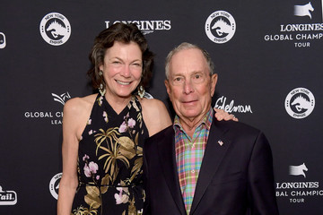 Michael Bloomberg Diana Taylor The Inaugural Longines Global Champions Tour Of New York