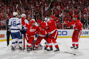 Michael Blunden Tampa Bay Lightning v Detroit Red Wings - Game Three