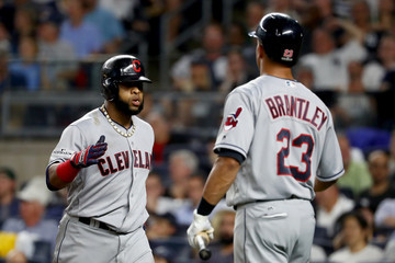 Michael Brantley Divisional Round - Cleveland Indians v New York Yankees - Game Four
