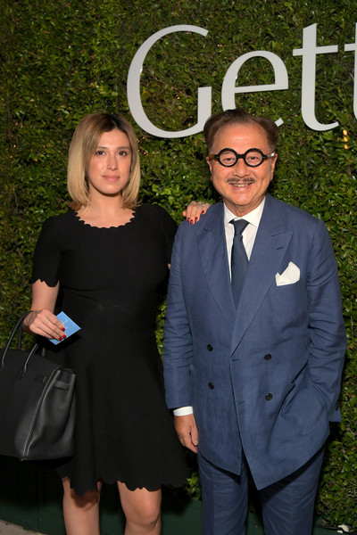 The J. Paul Getty Medal Dinner 2019 [suit,formal wear,tuxedo,event,fashion,fun,little black dress,smile,dress,white-collar worker,j. paul getty,vanessa chow,michael chow,l-r,california,los angeles,getty center,dinner]