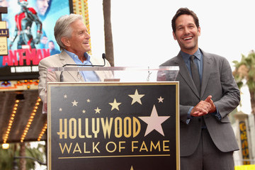 Michael Douglas Actor Paul Rudd Honored With a Star on The Hollywood Walk of Fame