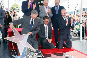 Michael Douglas Eric McCormack Honored With Star On The Hollywood Walk Of Fame