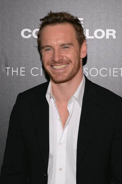 'The Counselor' Screening in NYC [chin,white-collar worker,facial hair,suit,forehead,premiere,smile,beard,emporio armani with gq and the cinema society host a screening of ``the counselor,emporio armani with gq and the cinema society host a screening of the counselor,crosby street hotel,new york city,michael fassbender]