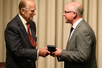 Michael Ferguson Prince Philip Presents Medals in Edinburgh