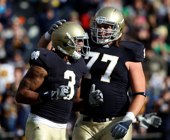 Matt Romine and Michael Floyd - Tulsa v Notre Dame