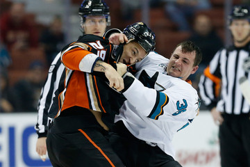 Michael Haley San Jose Sharks v Anaheim Ducks
