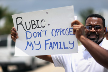 Michael Jackson Protestors Rally at Marco Rubio's Office