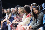 (L-R) Alexandra Idol, Annalia Idol, Michael Douglas, Carys Zeta Douglas, Catherine Zeta-Jones, Kate Hudson, Kerry Washington, Doutzen Kroes, and Priyanka Chopra attend the Michael Kors Collection Fall 2019 Runway Show at Cipriani Wall Street on February 13, 2019 in New York City.