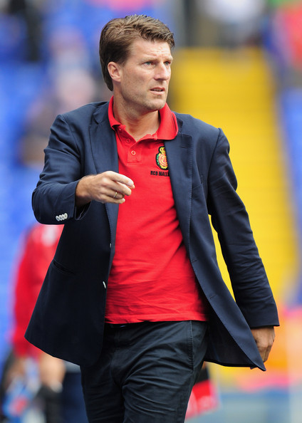 Michael Laudrup Michael Laudrup the Real Mallorca coach during the friendly match between Birmingham City and Real Mallorca at St. Andrew's Stadium on August 7, 2010 in Birmingham, England.