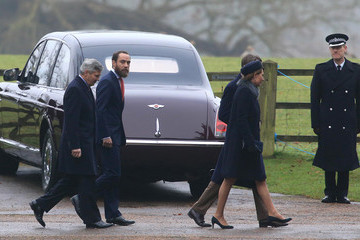 Michael Middleton Members Of The Royal Family Attend St Mary Magdalene Church In Sandringham