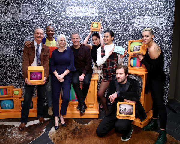 """SCAD aTVfest 2020 - """"Council Of Dads"""" [yellow,event,fun,photography,technology,team,electronic device,party,tourism,michael oneill,michele weaver,sarah wayne callies,tony phelan,joan rater,j. august richards,corey graves,clive standen,council of dads,scad atvfest,public relations,product,recreation,television,public,event]"""