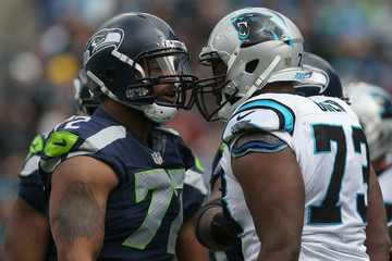 Michael Oher Divisional Round - Seattle Seahawks v Carolina Panthers
