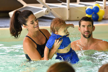 Michael Phelps Huggies Little Swimmers Swim Class With The Phelps Foundation