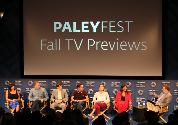 The Paley Center For Media's 2018 PaleyFest Fall TV Previews - Netflix - Inside [paleyfest fall tv previews,event,talent show,performance,font,stage,convention,performing arts,brand,performance art,competition,mary rohlich,robia rashid,amy okuda,michael rapaport,stage,l-r,netflix,paley center for media,inside]