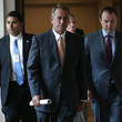 Michael Steel John Boehner Holds Press Briefing at the Capitol